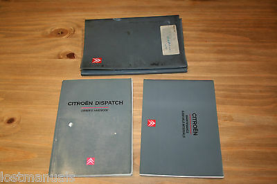 Citroen Dispatch Owners Manual / User Handbook Wallet, 1998-2002, Service Book