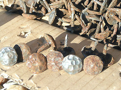 100 Hammered Nail Heads Clavos 5/8 inch repro