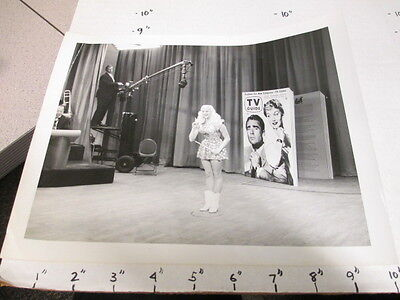 ABC TV studio show photo 1954 MARY HARTLINE (auto) on set Super Circus TV GUIDE