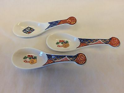 3 ASIAN Style Soup Spoons