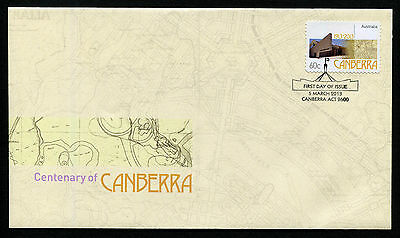 2013 Canberra Centenary S/A FDC First Day Cover Stamps Australia