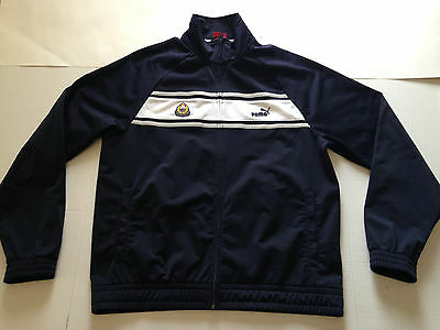 Misc - sz L,Puma track jacket front full zipper w/British HK police badges, used
