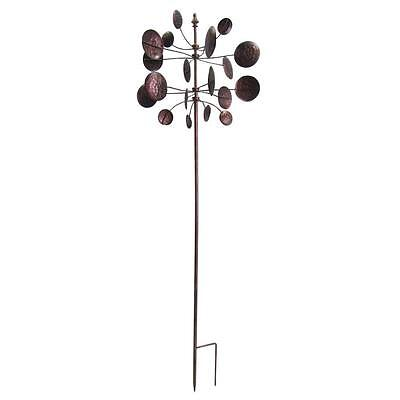 Garden Kinetic Wind Spinner Outdoor Sculpture Walkway Windmill Lawn Stake Decor