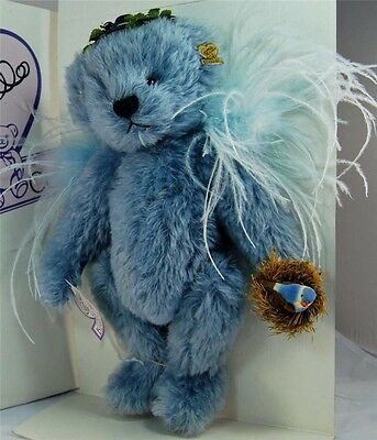 MIB Annette Funicello Bear Co Blue Birdie 23rd Angel Mohair Bear Christy Firmage