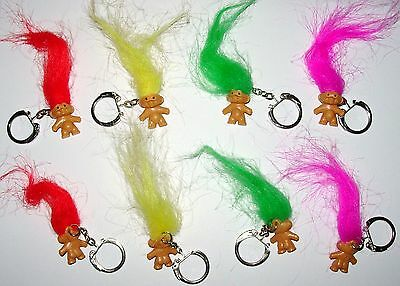 8 Colorful Troll Key Chains
