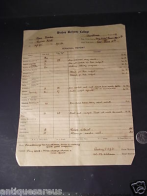 Cleveland School Lutton 1949 Report Card ?