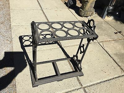 Antique East Lake Cast Iron Cane Stand Walking Stick Holder Umbrella Stand Wine