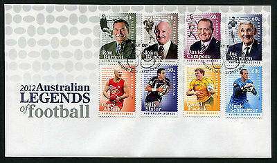 2012 Legends of Football FDC First Day Cover Stamps Australia