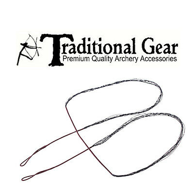 Tire Line Black Replacement Bowstring 57'' Length Long Bow 12 Strand
