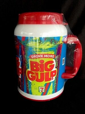 7-11 Eleven Big Gulp 100oz Insulated Thermos Travel Mug WHIRLEY Drink More