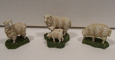 Lang & Wise Colonial Williamsburg Sheep Set of 3 Nice condition/No Box
