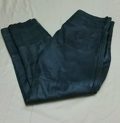 212 Degrees Men's Soft Brown Leather Pants Biker Motorcycle Two Hundred Sz 38