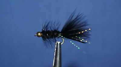 12QTY BD HD WOOLY BUGGER BLACK FLY fishing flies size10