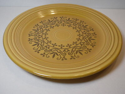 "Vintage 10"" Homer Laughlin Fiesta Coventry Casualstone Antique Gold Dinner Plate"