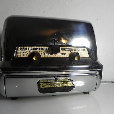 Vintage Chrome General Electric 35t83 2 Slice Toaster  Retro