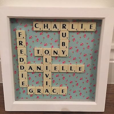 Bespoke Scrabble Picture Frame - Perfect Gift For Valentines/wedding/birthday