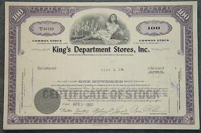 USA: LOT 50 X King's Department Stores, Inc.