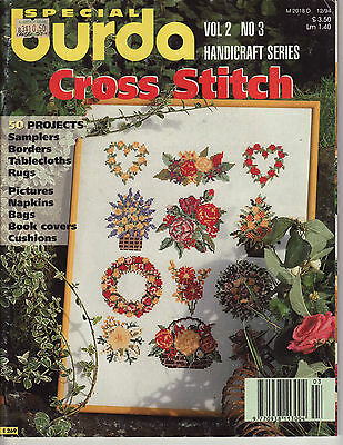 Special Burda Cross Stitch 50 Projects Samplers Borders Rugs Cushions Charts