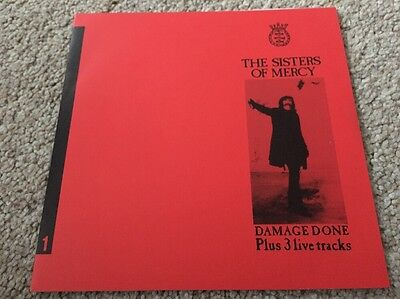 """The Sisters of Mercy - Damage Done - Red Sleeve 7"""" Bootleg"""