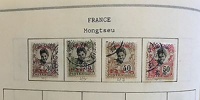 French Post Offices In China Mongtseu Lot Of 4 Stamps Used Spl