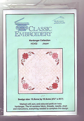 REDUCED!! Classic Emboidery Hardanger Collection - Jasper - Full Embroidery Kit