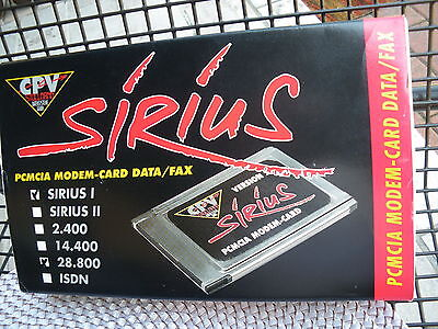 Sirius I PCMCIA Modem-Card Data/Fax