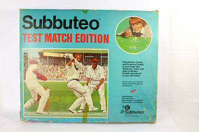 Subbuteo 1975 Test Match Edition Table Cricket Red & Blue Caps Eng v West Indies