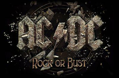 """Ac/dc Flagge / Fahne """"rock Or Bust"""" Posterflag"""