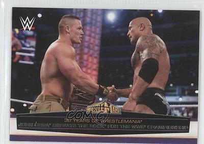 2014 #58 John Cena Defeats The Rock for the WWE Championship Wrestling Card 1k3