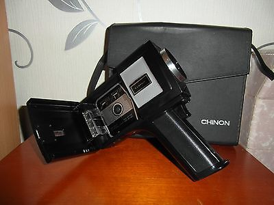 Vintage ~ Chinon Super 8 Model 720 Automatic ~ Cine Camera ~Made In Japan 1970's