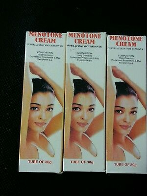 3 X Menotone cream  Super Action Spot Remover Tube Of 30 g