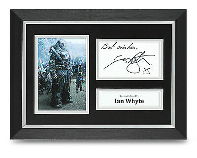 Ian Whyte Signed A4 Photo Framed Game of Thrones Memorabilia Autograph Display