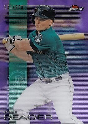 Topps Finest Baseball 2016 Purple Refractor Base Card #80 Kyle Seager