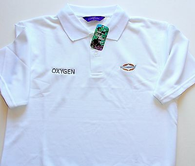 """Genuine Sunseeker """" Oxygen """" Polo Shirt White With Cool Plus Fibre Small Or Med"""