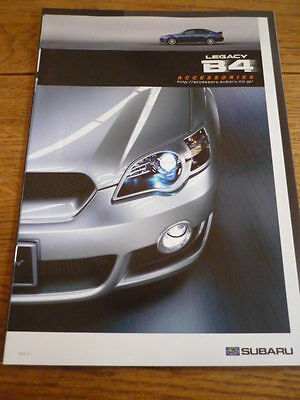 Unusual Subaru Legacy B4 Accessories Brochure