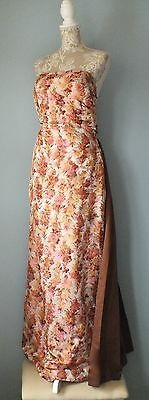 Stunning, True Vintage Ladies Evening Dress by HARRODS, dual train size 10/12