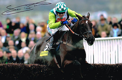 Signed Sam Thomas Denman Gold Cup 2008 Photo Autograph Coa Horse Racing