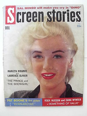 1957 Marilyn Monroe Screen Stories Magazine Marilyn On Cover And Feature Story