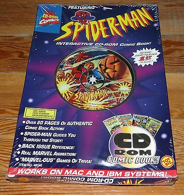 NEW Spider-Man Interactive CD-Rom Marvel Comic Book Collector's Edition - RARE