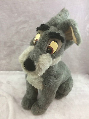 """Disney Store Lady & The Tramp Scamp Soft Toy 15"""" Plush"""