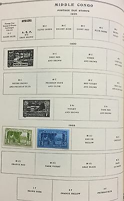 Middle Congo 1933 Lot Of 2 Stamps Mlh* Spl