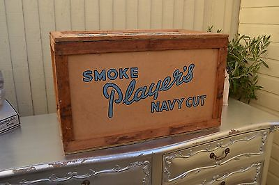Vintage Players Navy Cut Cigarette Packing Crate Quirky Storage TV Film Prop