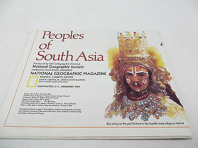 National Geographic Map Peoples of South Asia - December 1984