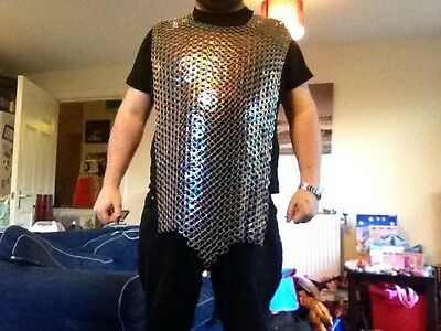 Chainmail Tabard , Zinc Plated, Anti Rust, Re-enactment LARP Lrp Ringmail Armour