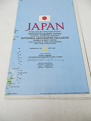 National Geographic Map - Japan - June 1984