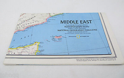 National Geographic Map - Middle East - September 1978