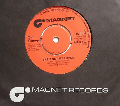 "Cole Younger-She's Not My Lover-UK Vinyl 7""-KBD Powerpop Punk Wave-1977-HEAR"