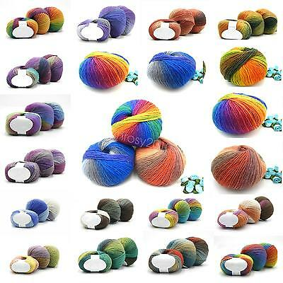 21 colors Super Soft Cashmere Baby Natural Smooth Bamboo Cotton Knitting Yarn