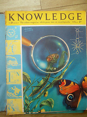 Knowledge Magazine Issues 25 to 29 complete in Binder 1962 Purnell & Sons