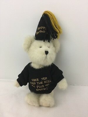 "Boyds Bear U R Old Over the Hill Pick Up Speed - White 8"" Happy Birthday Hat"